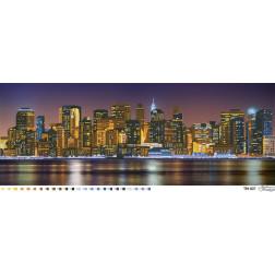 Схема картини Місто, яке ніколи не спить (кольорове) для вишивки бісером на тканині ТМ007пн9636