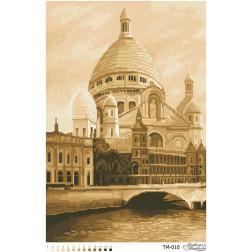 Набір для вишивки бісером Барвиста Вишиванка Найкрасивіша Базиліка Франції (сепія) 41х61 ТМ010пн4161k