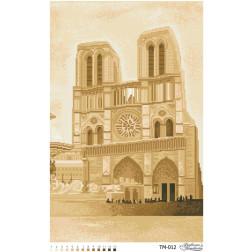Схема картини Найвеличніший Собор Франції (сепія) для вишивки бісером на тканині ТМ012пн3961