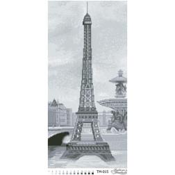 Схема картини Найромантичніша пам'ятка (чорно-біла) для вишивки бісером на тканині ТМ015пн2961