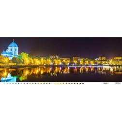 Комплект чеського бісеру Preciosa до схеми - картини Вечір над ставом 96 см X 36 см ТМ022ан9636b