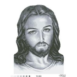 Схема для вишивки бісером Барвиста Вишиванка Ісус сірий 45х60 ТО004пн4560