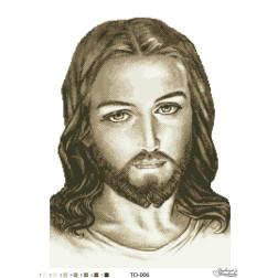 Схема для вишивки бісером Барвиста Вишиванка Ісус бежевий 45х60 ТО006пн4560
