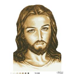Схема для вишивки бісером Барвиста Вишиванка Ісус коричневий 45х60 ТО008пн4560