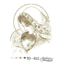 Схема для вишивки бісером Барвиста Вишиванка Марія з дитям бежева 25х35 ТО012пн2535