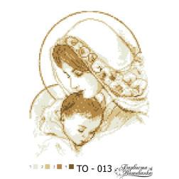 Схема для вишивки бісером Барвиста Вишиванка Марія з дитям коричнева 25х35 ТО013пн2535