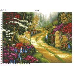 Схема для вишивки бісером Барвиста Вишиванка Пейзаж Ворота 67х50 ТП008пн6750