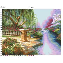 Схема для вишивки бісером Барвиста Вишиванка Пейзаж Берег мрій 61х47 ТП009пн6147