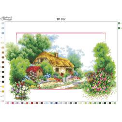 Схема для вишивки бісером Барвиста Вишиванка Пейзаж Весна 52х37 ТП012пн5237