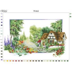 Схема для вишивки бісером Барвиста Вишиванка Пейзаж Літо 52х37 ТП013пн5237