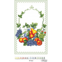 Схема для вишивки бісером Барвиста Вишиванка Спасівський рушник 31х50 ТР013пн3150