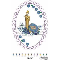 Схема для вишивки бісером Барвиста Вишиванка Великодній рушник 24х34 ТР015ан2434