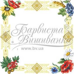 Набір бісеру Preciosa для вишивки бісером до схеми для вишивання скатертини Народні Символи України ТР030аБ5252b
