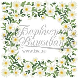Набір бісеру Preciosa для вишивки бісером до схеми для вишивання скатертини Весняні Ромашки ТР034аБ5252b