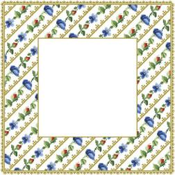 ТР037аБ5959 Заготовка для вишивання скатертини Квіткові Візерунки 80 см Х 80 см