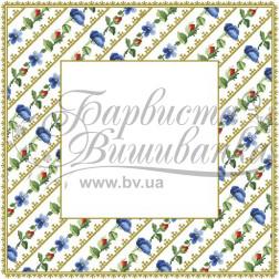 Набір бісеру Preciosa для вишивки бісером до схеми для вишивання скатертини Квіткові Візерунки ТР037аБ5959b