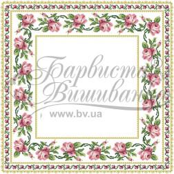 Набір бісеру Preciosa для вишивки бісером до схеми для вишивання скатертини Рожеві Троянди ТР038аБ5656b