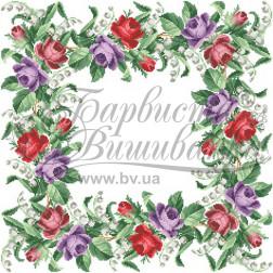 Набір бісеру Preciosa для вишивки бісером до схеми для вишивання скатертини Барви весни ТР045аБ5454b