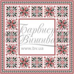 Набір бісеру Preciosa для вишивки бісером до схеми для вишивання скатертини Український орнамент ТР046аБ5050b