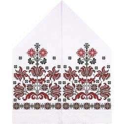 Набір для вишивки нитками Барвиста Вишиванка Рушник для Весільних Ікон 30х120 ТР055дн3099i
