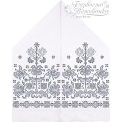 Схема для вишивки бісером і нитками Барвиста Вишиванка Рушник для Весільних Ікон 30х120 ТР059пн3099