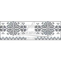 Схема для вишивки бісером і нитками Барвиста Вишиванка Рушничок для Весільних букетів та декору 10х25 ТР060пн1025