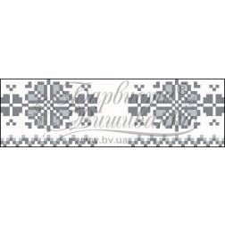 Набір для вишивки нитками Барвиста Вишиванка Рушничок для Весільних букетів та декору 10х25 ТР060дн1025i