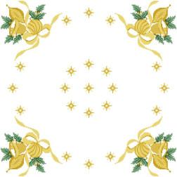 Набір ниток DMC для вишивки хрестиком до схеми для вишивання Новорічна скатертина Дзвіночки ТР147аБ5252h