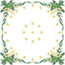 Схема для вишивки бісером і нитками Барвиста Вишиванка Новорічна скатертина Різдвяні зіроньки 80х80 ТР148аБ5252