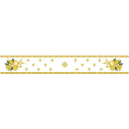 Набір бісеру Preciosa для вишивки бісером до схеми для вишивання Новорічна скатертина-доріжка Дзвіночки ТР151аБ9916b
