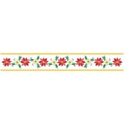 ТР153аБ9916 Заготовка для вишивання новорічної скатертини-доріжки Новорічна квітка 130 см Х 26 см