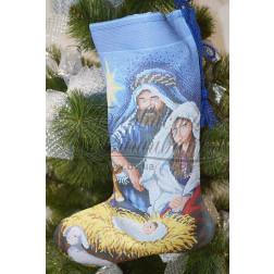 Набір ниток DMC для вишивки хрестиком до схеми для вишивання Пошитий новорічний чобіток Різдвяний вечір ТР161аБ3149h