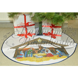 Схема Пошита спідничка під ялинку Різдвяний вечір для вишивки бісером і нитками на тканині ТР162аБ9999