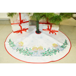 Набір для вишивки нитками Барвиста Вишиванка Пошита спідничка під ялинку Ангелики 100d ТР164аБ9999i