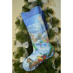 Комплект чеського бісеру Preciosa до новорічного носка Напередодні свята ТР165аБ3149b