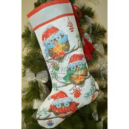 Комплект чеського бісеру Preciosa до новорічного носка Новорічні Сови ТР167аБ3149b