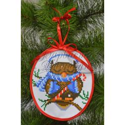 Комплект чеського бісеру Preciosa до новорічної іграшки Сонька (серія: Новорічні Сови) ТР180аБ1416b