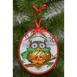 Комплект чеського бісеру Preciosa до новорічної іграшки Веселун (серія: Новорічні Сови) ТР182аБ1416b