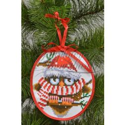 Комплект чеського бісеру Preciosa до новорічної іграшки Розумник (серія: Новорічні Сови) ТР183аБ1416b