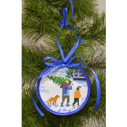 Комплект чеського бісеру Preciosa до новорічної іграшки Приємні клопоти (серія: Ковзанка) ТР188аБ1010b