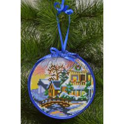 Комплект чеського бісеру Preciosa до новорічної іграшки Біля річки (серія: Ковзанка) ТР196аБ1414b