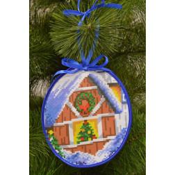Пошита новорічна іграшка для вишивання За вікном (серія: Напередодні свята) 14см x 16см ТР201аБ1416