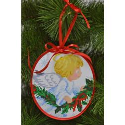 Пошита новорічна іграшка для вишивання Ніжний ангел (серія: Ангелики) 14 см Х 16 см ТР220аБ1416