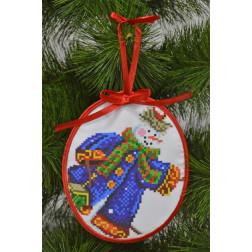 Пошита новорічна іграшка для вишивання Добряк (серія: Сніговики-Колядники) 14 см Х 16 см ТР223аБ1416