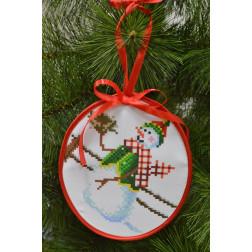 Пошита новорічна іграшка для вишивання Фінансист (серія: Сніговики-Колядники) 14 см Х 16 см ТР224аБ1416