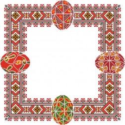ТР262аБ5252 Заготовка для вишивання Великодньої скатертини 80 см Х 80 см