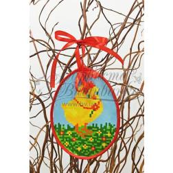 Схема для вишивки бісером і нитками Барвиста Вишиванка Пошита Великодня іграшка 10х13 ТР265аБ1013