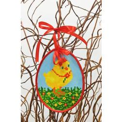 Набір для вишивки нитками Барвиста Вишиванка Пошита Великодня іграшка 10х13 ТР265аБ1013i