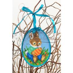 Схема для вишивки бісером і нитками Барвиста Вишиванка Пошита Великодня іграшка 10х13 ТР266аБ1013