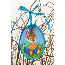 Набір для вишивки нитками Барвиста Вишиванка Пошита Великодня іграшка 10х13 ТР266аБ1013i